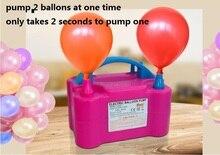 Электрический насос для шаров высокого напряжения двойное отверстие AC надувной насос для накачивания воздушных шаров Электрический насос для воздушных шариков портативная воздуходувка