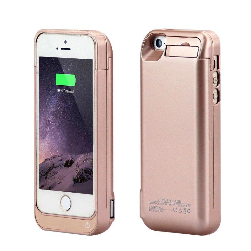 Цена за Gagaking 4200 мАч Высокое качество батареи Чехол для iPhone 5C/SE/5/5S ABS черный зарядное устройство чехол для iphone 5 5S защитный чехол