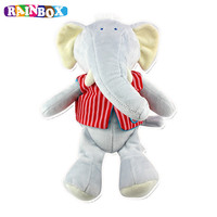 Newborn Baby Rattle Toys Elephant Hand Bells Plush Toy Baby Rattle Doll For Kids Bed And