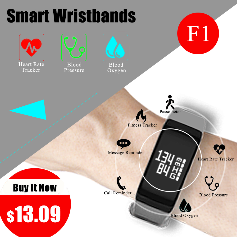 F1 Smart Band watches Blood Pressure Fitness bracelet heart rate smartband Smart bracelet Healthy Activity Tracker wristband