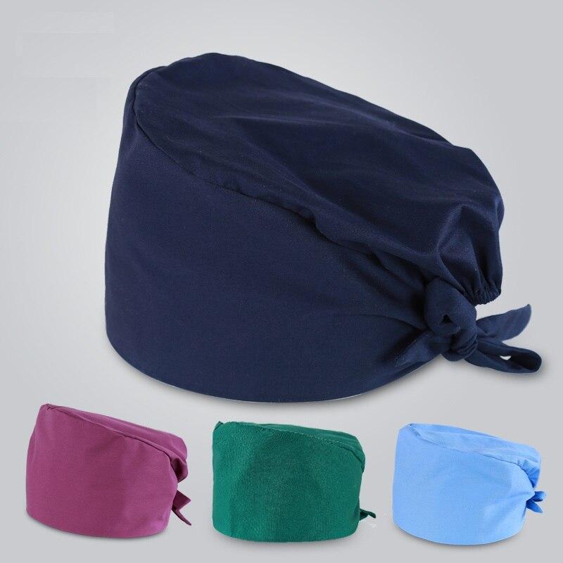 טהור כותנה מוצק צבע רפואי כובע לנשים וגברים נוח כירורגית כובע הדפסת עיצוב באיכות אביזרים רפואיים