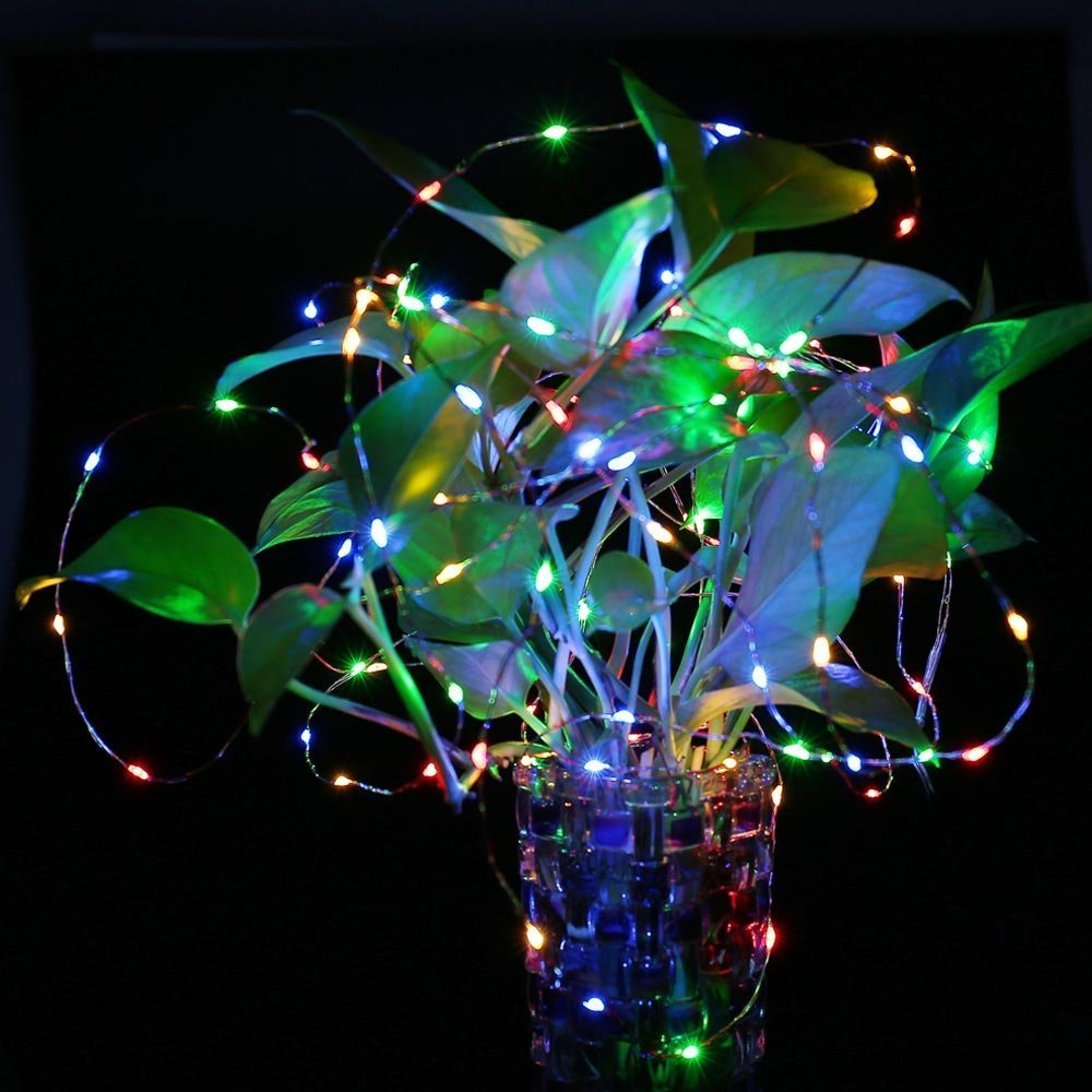 Outdoor solar powered string lights 120 led multi color fairy outdoor solar powered string lights 120 led multi color fairy starry copper wire rope lights for indoor garden home wedding in solar lamps from lights aloadofball Choice Image