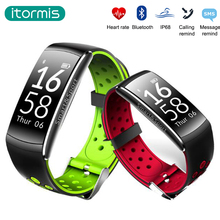 Itormis SmartBand Bande À Puce Bluetooth Bracelet Bracelet Fitness tracker PK xiao mi bande 2 MiBand IP68 Étanche fréquence Cardiaque