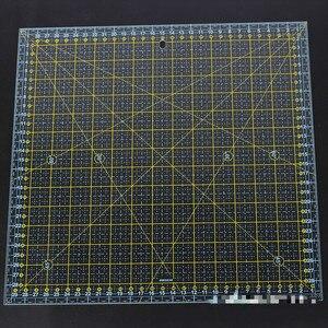 Image 4 - 스퀘어 30*30 Cm 패치 워크 눈금자 두꺼운 아크릴 투명한 퀼트 재봉 눈금자 재단사 스텐실 측정 도구 용 눈금자 절단