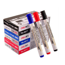 Free shipping The Erasable Whiteboard Marker Pen 10 Pcs Whiteboard School Dry Erase Markers Blue Black Red Office Supplies /J012(China)