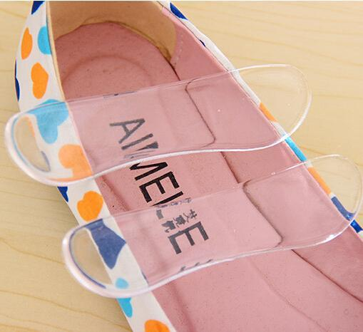 Hot Sale 10 Pairs Silicone Back Heel Liner Gel Cushion Pads Insoles High Dance Shoes Grip Insole Arch Support Cushion P11 100 pairs fabric faced foot care feet insoles invisible cushion silicone gel heel liner shoe pads wholesale