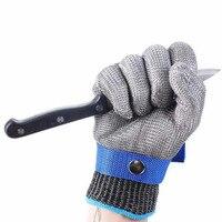 Anti schneiden handschuhe edelstahl grade 5 stahl draht plus PE stahl ring eisen handschuhe Anti schneiden metall schlachtung schreiner-in Schutzhandschuhe aus Sicherheit und Schutz bei