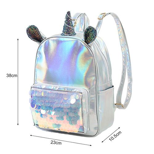 Mochila unicornio holográfica 1