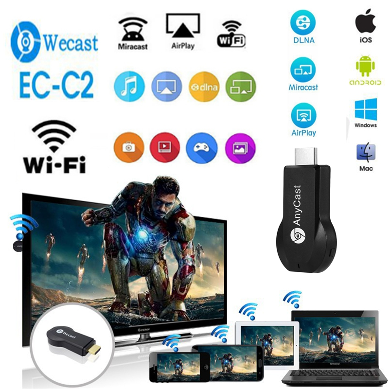 WiFi Wireless Display Dongle AnyCast M2 Airplay Chromecast Receiver HDMI TV Stick Miracast Any Cast m2 ezcast For Smart Phone PC