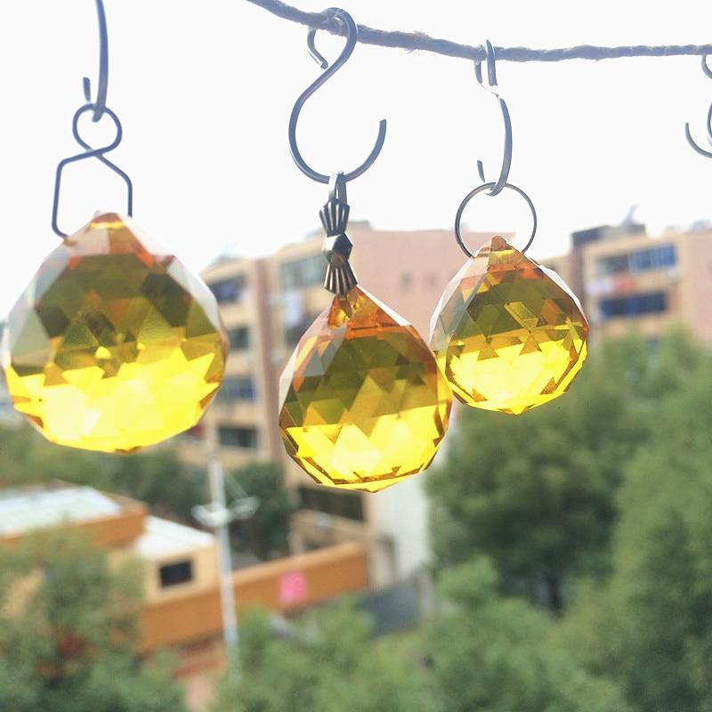 10 pcs 20mm Ouro Pendurado Cristal Facetado
