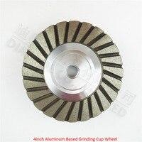 4inch 120 Aluminum Based Diamond Grinding Cup Wheel Professional Quality Diameter 100mm Grinding Wheel For Granite