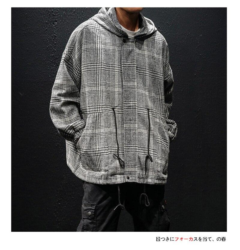 Korean Trench Coat Men Overcoat Hood Slim Fit (8)