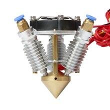 Diamond 3D Printer Hotend Multi Color Hot End 3 IN 1 Out Extruder Prusa I3 Rostock Extruder Kit 0.4mm/ 1.75mm 12V