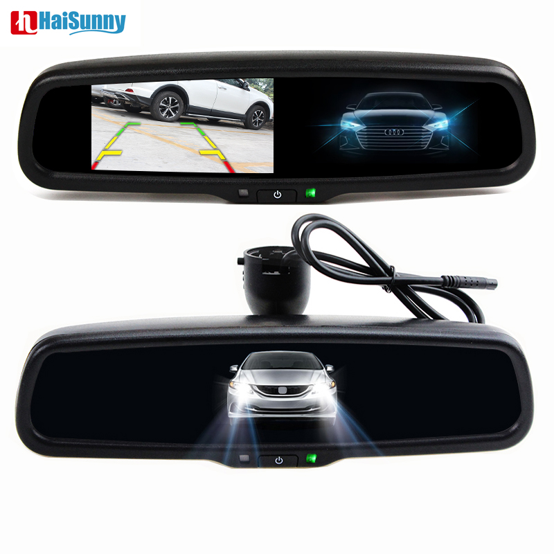 HaiSunny HD 4.3'' Clear mirror electronic auto-dimming interior mirror support Volkswagen Nissa Toyota Ford Honda Hyundai Kia haisunny clear mirror auto dimming interior rear view mirror electronic support honda mazda subaru vw bmw toyota ford