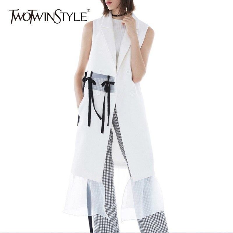 TWOTWINSTYLE Patchwork ตาข่ายชุดผู้หญิง V คอ Lace Up เอวหญิงแฟชั่นเสื้อผ้า-ใน ชุดเดรส จาก เสื้อผ้าสตรี บน AliExpress - 11.11_สิบเอ็ด สิบเอ็ดวันคนโสด 1