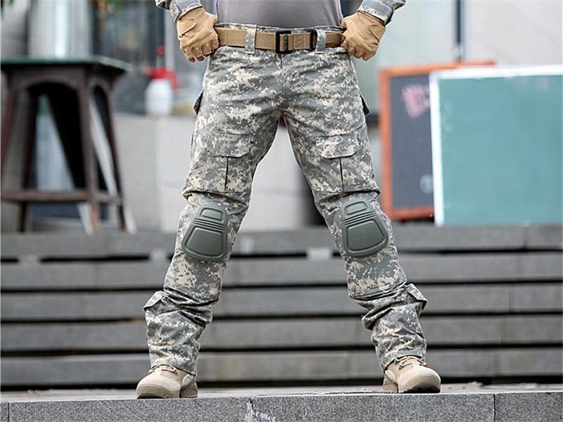 Camuflagem militar tático calças do exército militar