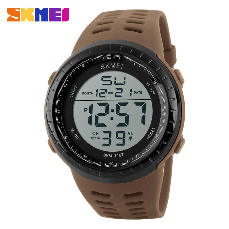 Skmei Luxury Brand Mens Sports Watches Dive 50m Digital LED Military Watch Men Fashion Casual Electronics Wristwatches Man Clock
