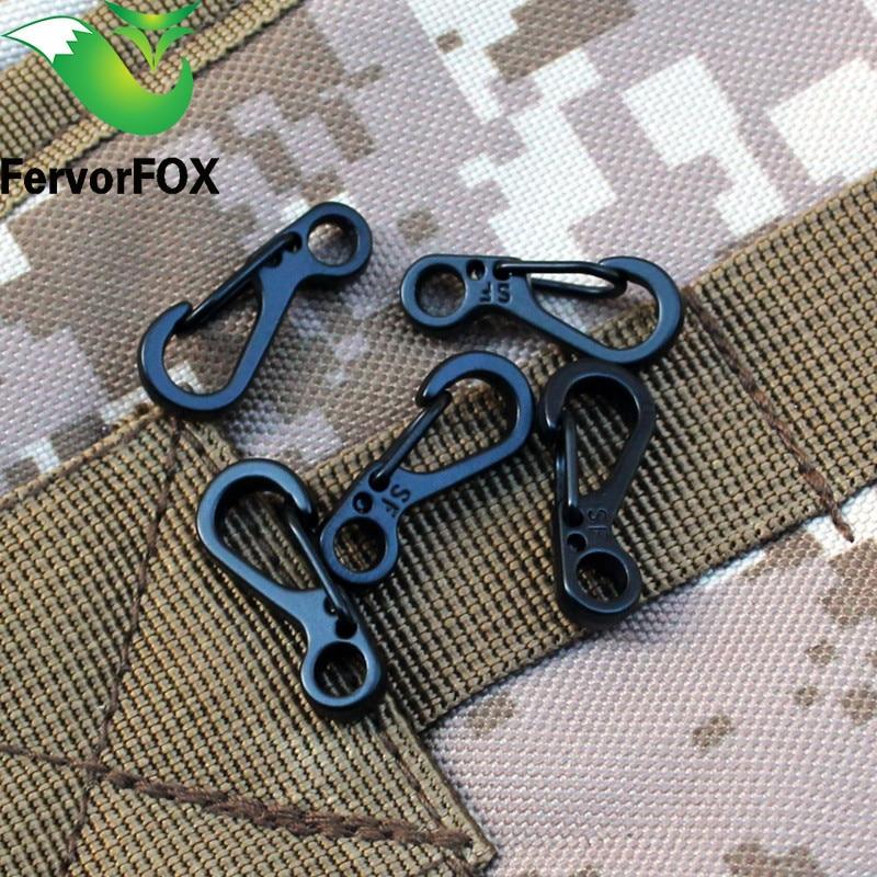 5PC Edc Snap Spring Clip Camping Hiking Hook Carabiner Camping Equipment Backpack Tactical Survival Tools Mosqueton Paracord Kit