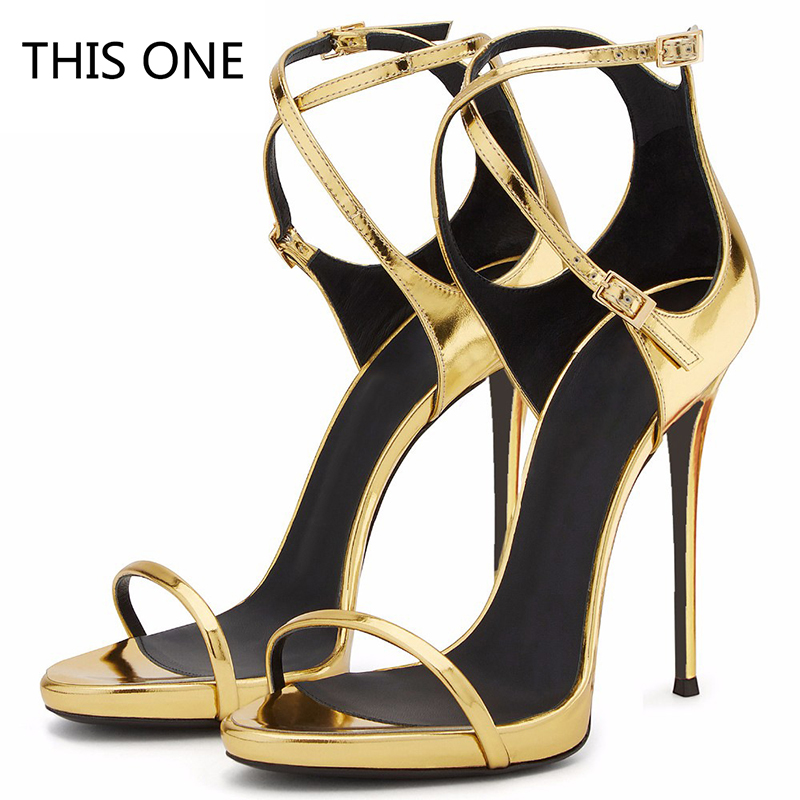 Women Sandals Sexy High Heels Women Pumps 2018 Women Shoes Gold Summer Sandals Heels Ladies Shoes apoepo 2018 newest sandalen dames beige metal decor thin heels high heels sandals women summer sexy women s heel sandals shoes