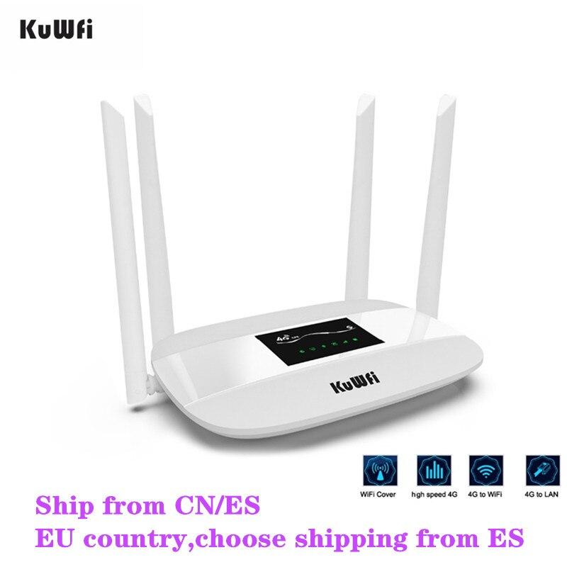 300 Mbps Débloqué 4G LTE CPE routeur sans fil Soutien SIM Carte 4 pièces Antenne Avec LAN Port Soutien jusqu'à 32 utilisateurs Wifi WPS Fonction