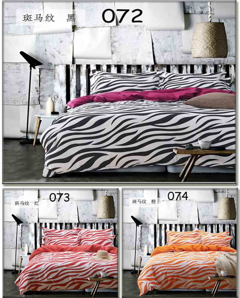 White and red bed sheets - Black White Orange Red Zebra Cotton Twin Full Queen King 3pcs 4pcs Bedding Sets Bedclothes Set