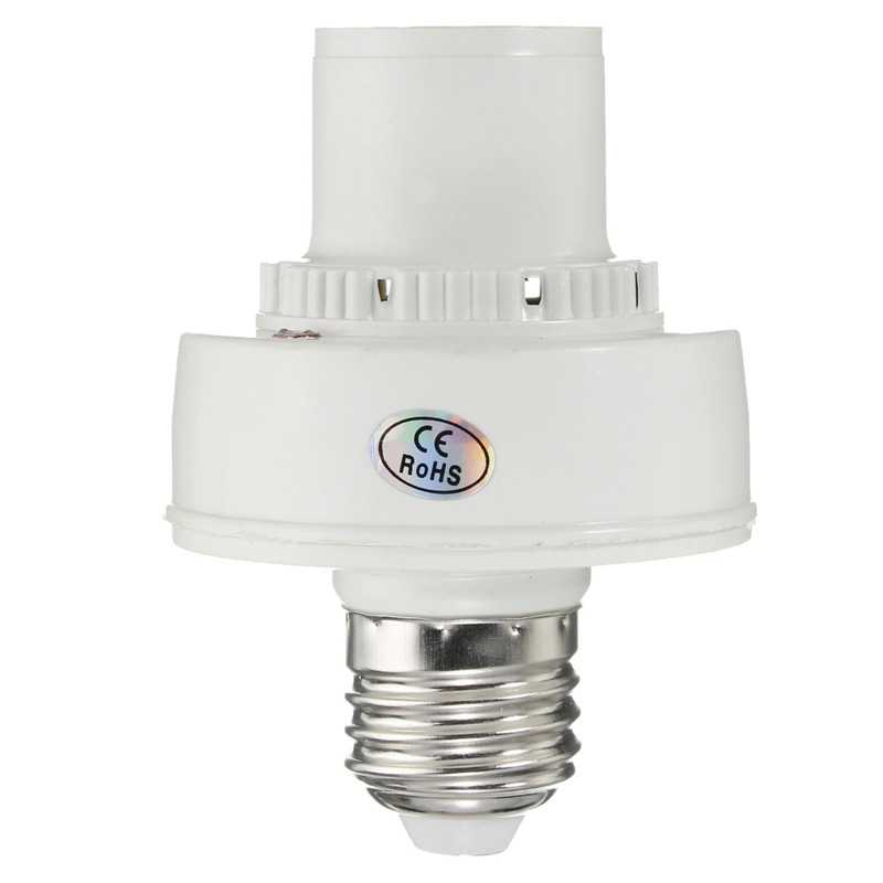 AC220V LED Light E27 Bulb Base Sensor Delay Switch Lamp Sound Voice Control Holder Adapter Socket Lighting Accessories