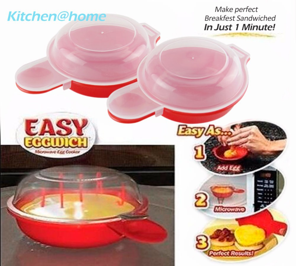 Non Stick Easy Egg Poachers Cooking Tool Microwave Egg