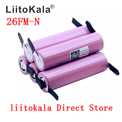 Liitokala новый 100% оригинальный 18650 2600 mah аккумулятор ICR18650-26FM литий-ионный 3,7 V аккумуляторная батарея + DIY никелевый лист