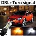 Chteeah Для Suzuki SX4 2007-2014 DRL Дневного Света и Сигнала Поворота Свет Ксеноновой лампы Белый + Янтарная бесплатная доставка