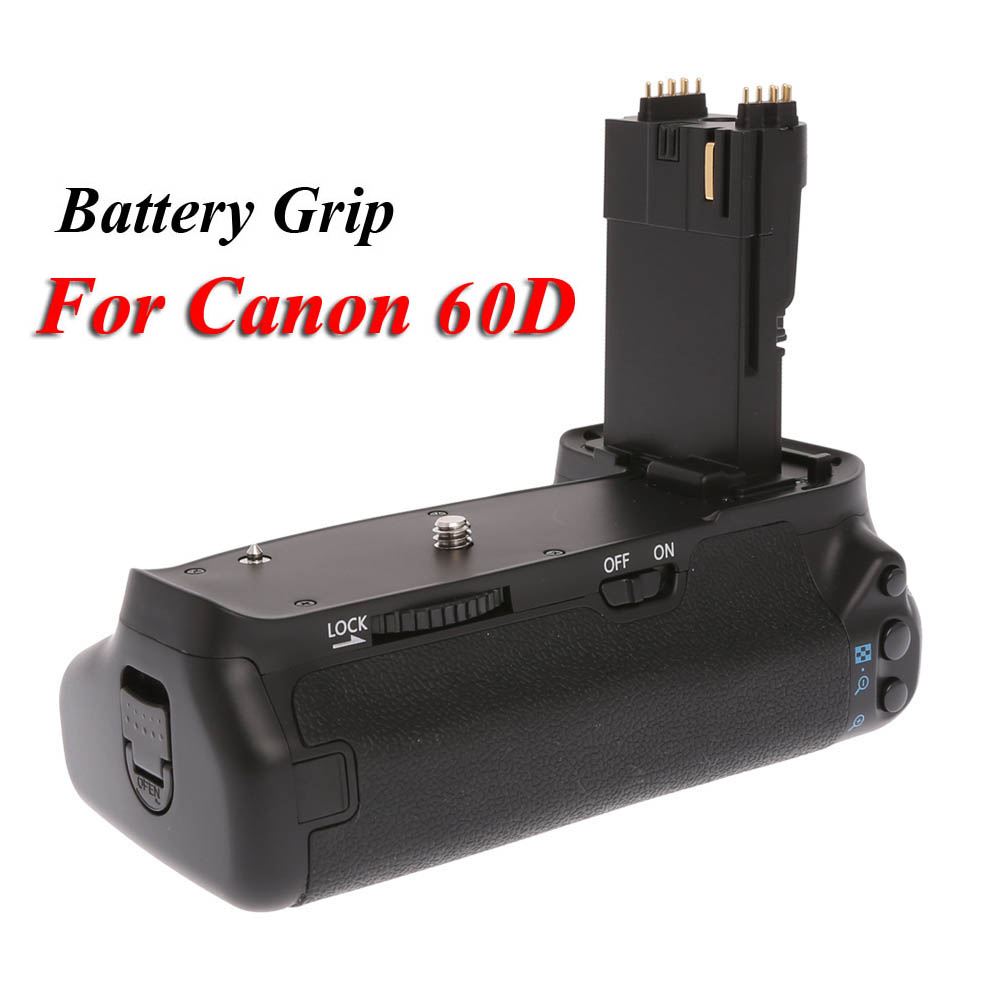 MK-60D Vertical Battery Grip Multi-Power Battery Pack Holder for Canon EOS 60D DSLR Camera Replace as BG-E9 BGE9
