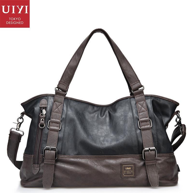 UIYI PU Leather Handbag Men Shoulder Messenger Tote Bags For Male Business Fashion Bolsas Masculinas Em Couro Quality 130221 джемпер hilfiger denim 1957888889 002 black iris