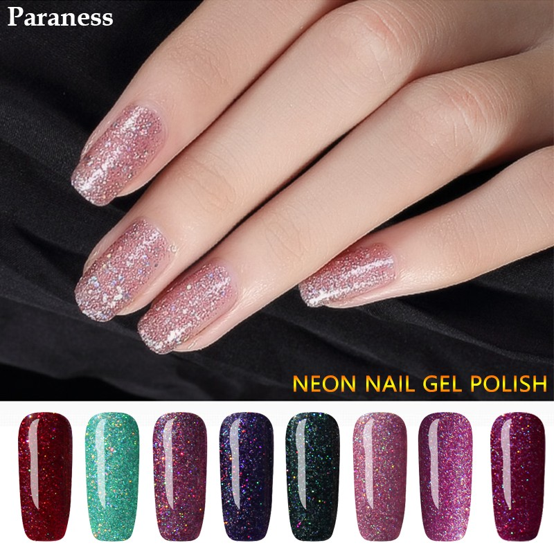 Paraness 7ml UV Gel Nail Polish Neon Chameleon Color Gel UV LED Gel ...