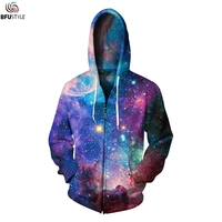 Space Galaxy Mens Hoodies 2017 Autumn Winter Outwear Coats Jacket Casual Hip Hop Hipster Brand Hoodie