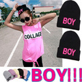 "2014 free shipping New Women Girls Fashion ""boy"" Winter Warm Retro Ski knit Hats Beanie Cap"