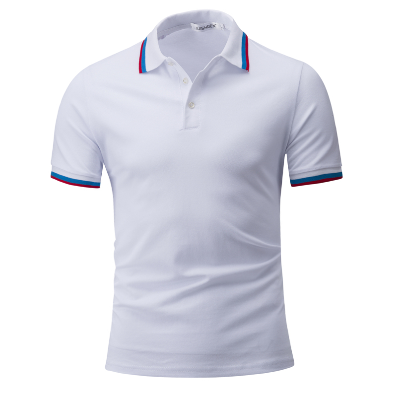 Men's New Summer A Lot Of Style Slim Fit Short Sleeve male   Polo   Shirt Eight Colors Select White Black Light blue Rose Red