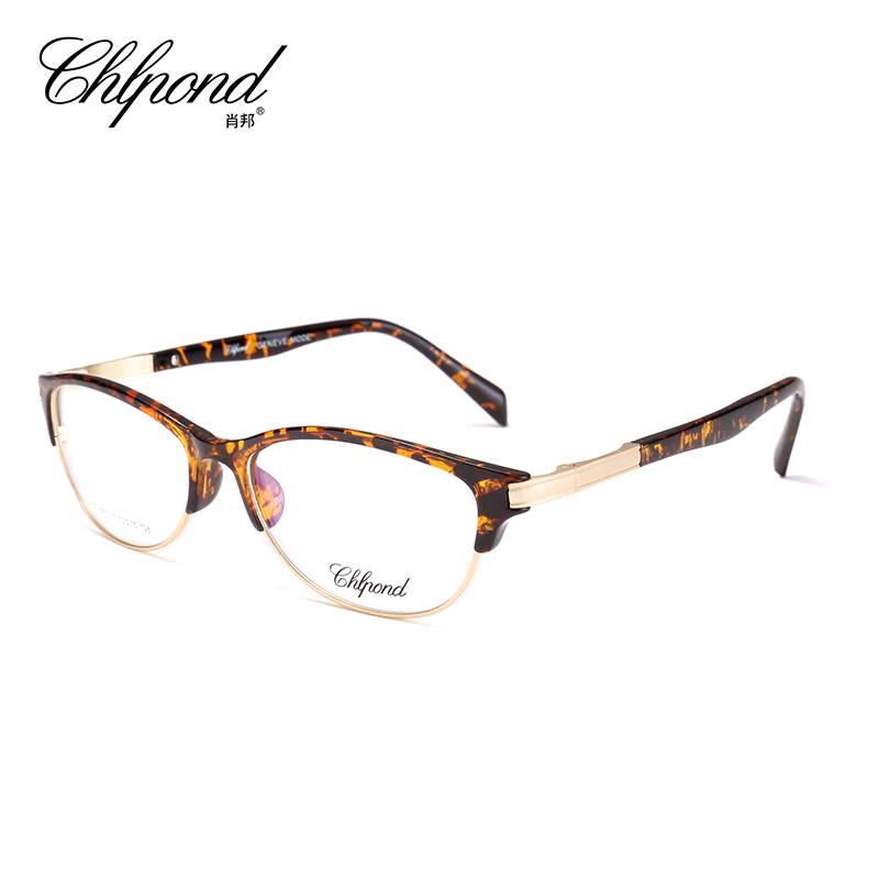 2017 Chlpond Alloy Optical Eyewear Frames Women Myopia Computer Clear Lens Fashion Multi-focal  Prescription Glasses Frame 68317