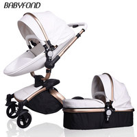 Babyfond коляска aiqi ребенка Свет автомобиля Складная детская коляска bb 2 в 1 детская коляска для сна корзина новорожденных Золотой рамки