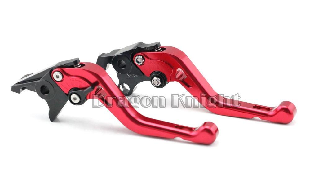 Motocycle Accessories For SUZUKI DL 1000/V-STROM 2002-2014 Short Brake Clutch Levers Red adjustable short straight clutch brake levers for suzuki gsx 650 f gsf 650 bandit n s dl 1000 v strom 2002 2015