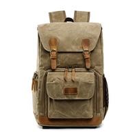 Men Batik Canvas Photo Bag backpack Waterproof Photography travel Outdoor Wear resistant Large Camera lens Backpack for Nikon