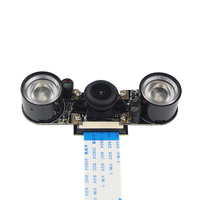 Raspberry Pi 3 Model B Wide Angle 150 Degree Fisheye Lens Camera 2pcs IR Sensor LED