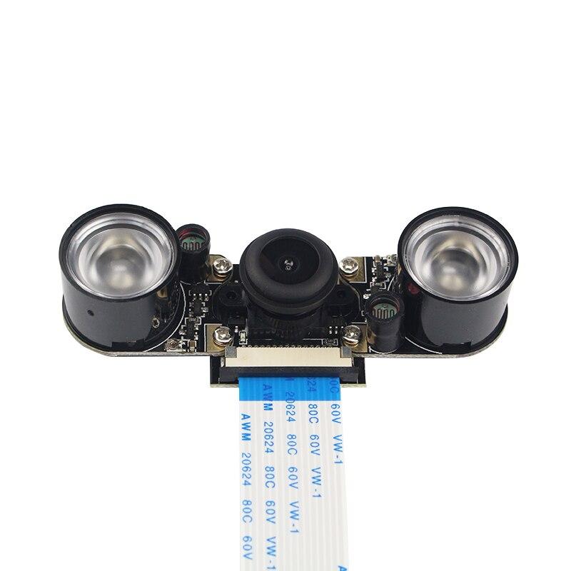 Raspberry pi 3 camera night vision wide angle fisheye lens 5 mp camera 2 pcs ir