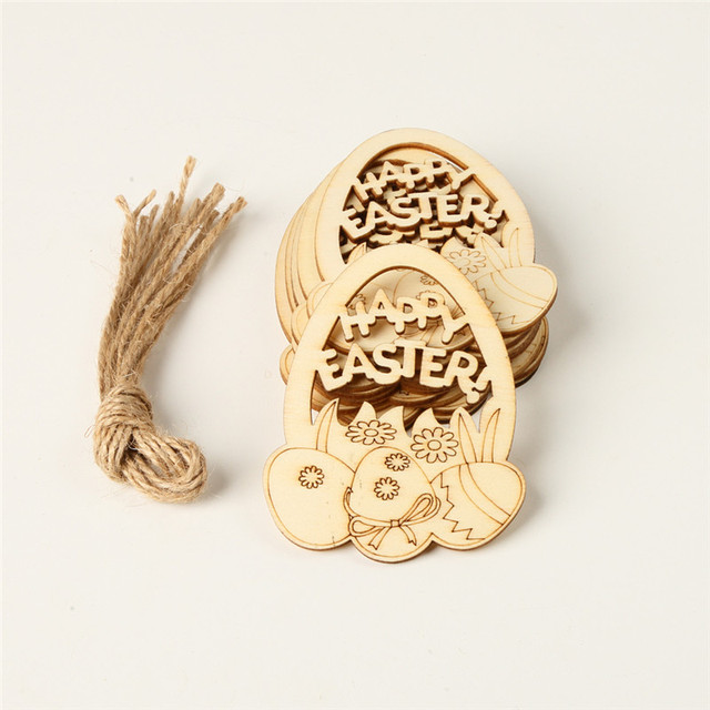 Easter laser cut wooden eggs  (10pcs/lot)  Ornaments-Easter decor items
