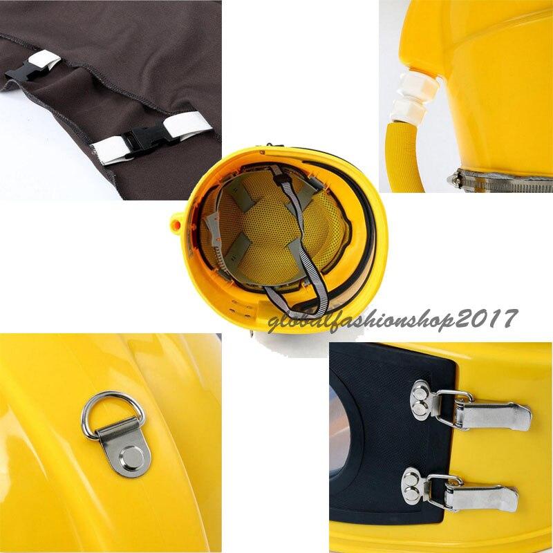 Купить с кэшбэком Labor Protection AIR FED Supplied Safety Sandblast Helmet Sand Industry Blast Abrasive Hood Protector