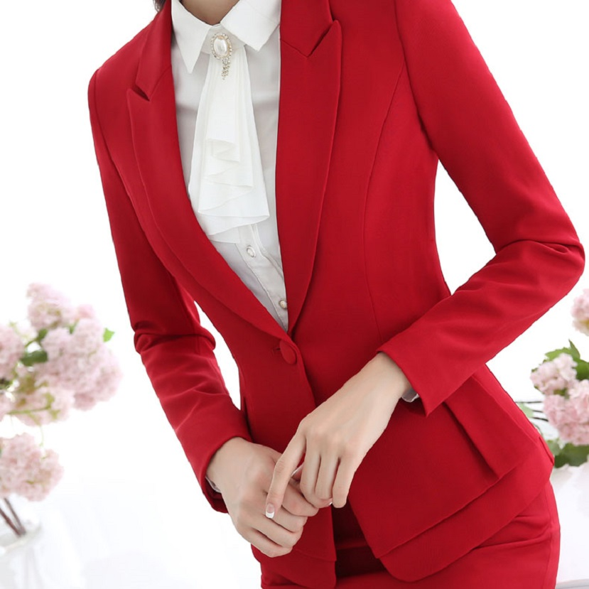 Popular Red Blazer Women-Buy Cheap Red Blazer Women lots from ...