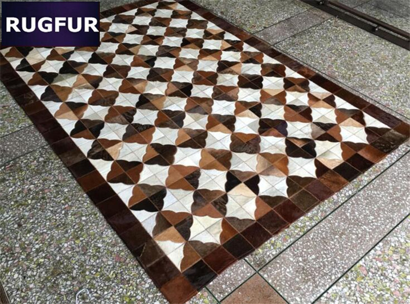 Top Quality Modern Cowhide Room Carpet Cow Hair Original Leather Skin Cowhides Natural Patchwork Decor
