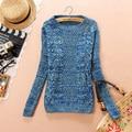 Lo nuevo de la vendimia Gruesa géneros de punto del suéter de Las Mujeres de Punto de Tocar Fondo suéteres mujer Casual suéteres suéteres tire femme LX6150