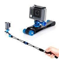 2017 Newest 3 Way Gopro Folding Selfie Stick Portable Mini Monopod Stabilizer Grip For GoPro Hero