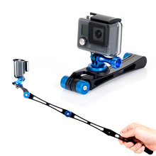 2017 Newest 3 Way Gopro Folding Selfie Stick Portable Mini Monopod Stabilizer Grip for GoPro Hero 5 4 3 2 1 xiaomi yi 4K SJ4000 цена