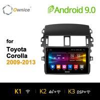 Ownice K1 K2 K3 Octa Core Android 9,0 Автомобиль Радио DVD плеер 2G Оперативная память 32G для Защитные чехлы для сидений, сшитые специально для Toyota Corolla 2009 2010 2011