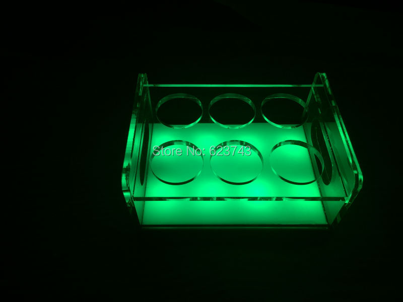 rechargeable multicolor Plastic  led shot glass holder (19)